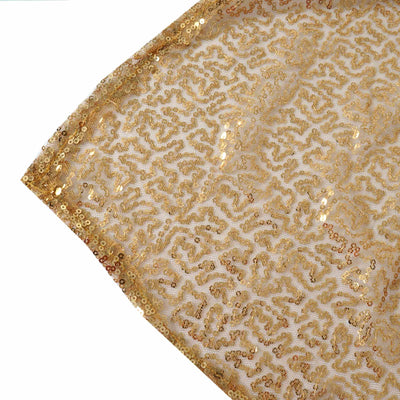 "60x102"" Wholesale Premium Gold Sequin Rectangle Tablecloth For Banquet Wedding Party"