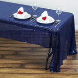 "60x126"" Wholesale Premium SEQUIN Tablecloth For Banquet Wedding Party - Navy"