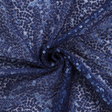 90 inch x 132 inch Navy Blue Premium Sequin Rectangle Tablecloth#whtbkgd