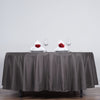 "108"" Charcoal Gray Polyester Round Tablecloth"