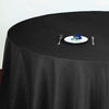 "120"" Black Polyester Round Tablecloth"