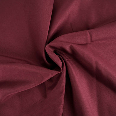 "120"" Burgundy Polyester Round Tablecloth"