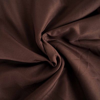 "90"" Chocolate Polyester Round Tablecloth"