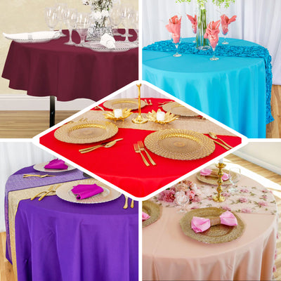 120 Inch | Purple Polyester Round Tablecloth