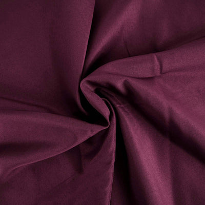 "90""x156"" Eggplant Polyester Rectangular Tablecloth"