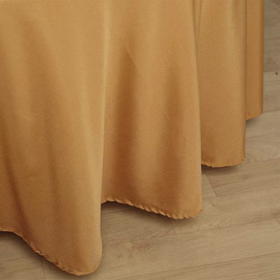 120 inches Gold Polyester Round Tablecloth