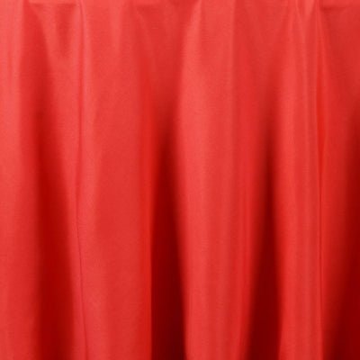 "120"" Red Polyester Round Tablecloth"