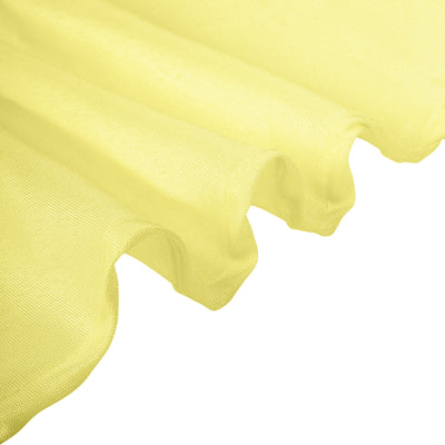 "120"" Yellow Polyester Round Tablecloth"