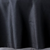 "132"" Black 220 GSM Seamless Premium Polyester Round Tablecloth"