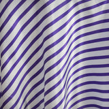 "90"" WHITE / PURPLE Striped Wholesale SATIN Round Tablecloth For Wedding Banquet Restaurant"