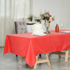 "60x102"" Coral Polyester Rectangular Tablecloth - Clearance SALE"