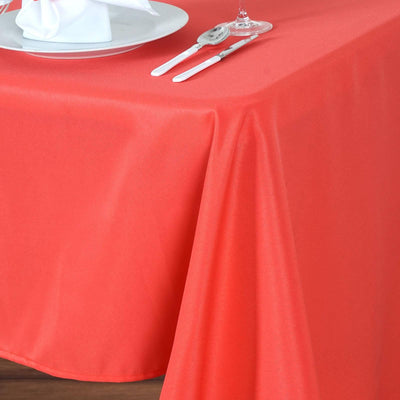 "60x102"" CORAL Wholesale Polyester Banquet Linen Wedding Party Restaurant Tablecloth"