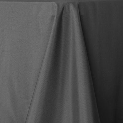 "60x102"" Charcoal Gray Polyester Rectangular Tablecloth"