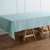 "60""x102"" Dusty Sage Polyester Rectangular Tablecloth"