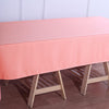 60x102 Coral Polyester Rectangular Tablecloth