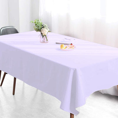 "60x102"" White 220 GSM Seamless Premium Polyester Rectangular Tablecloth"