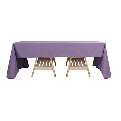 60x126 Violet Amethyst Polyester Rectangular Tablecloth