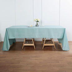 "60""x126"" Dusty Sage Polyester Rectangular Tablecloth"