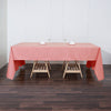 60x126 inch Coral Polyester Rectangular Tablecloth