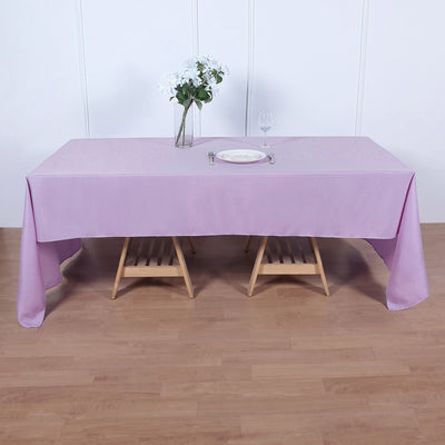 Lavender Polyester Rectangular Tablecloth | TableclothsFactory