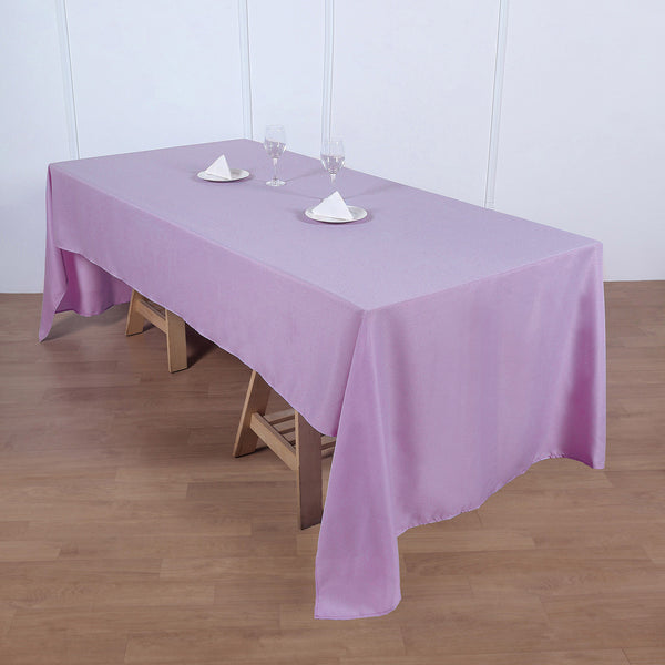 "60""x126"" Lavender Polyester Rectangular Tablecloth"