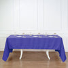 "60x126"" PURPLE Polyester Rectangular Tablecloth"