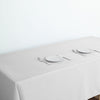 "60""x126"" Silver Polyester Rectangular Tablecloth"