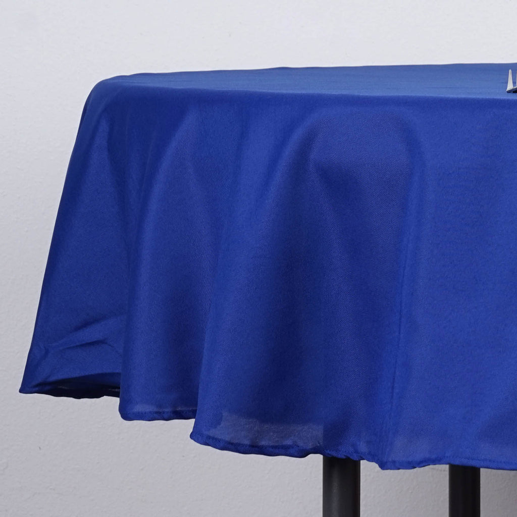70 Quot Royal Blue Polyester Round Tablecloth Tablecloths