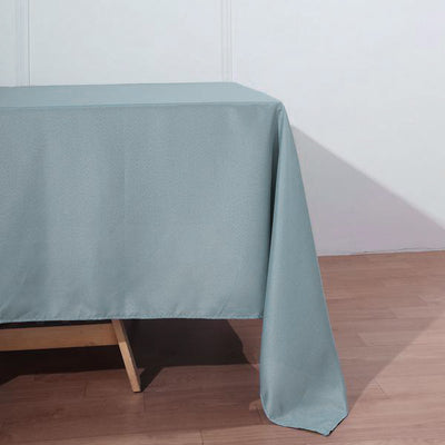 "72""x120"" Dusty Blue Polyester Rectangular Tablecloth"