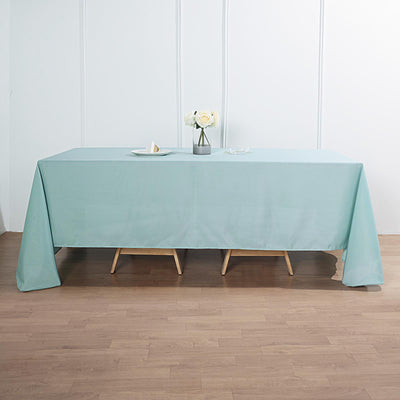 "72""x120"" Dusty Sage Polyester Rectangular Tablecloth"