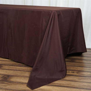 "72x120"" Chocolate Polyester Rectangular Tablecloth"