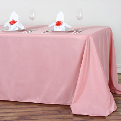 "90x132"" ROSE QUART Wholesale Polyester Banquet Linen Wedding Party Restaurant Tablecloth"