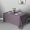 "90""x132"" Charcoal Gray Polyester Rectangular Tablecloth"