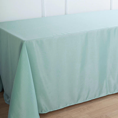 90x132 Dusty Sage Polyester Rectangular Tablecloth
