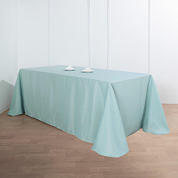 "90""x132"" Dusty Sage Polyester Rectangular Tablecloth"