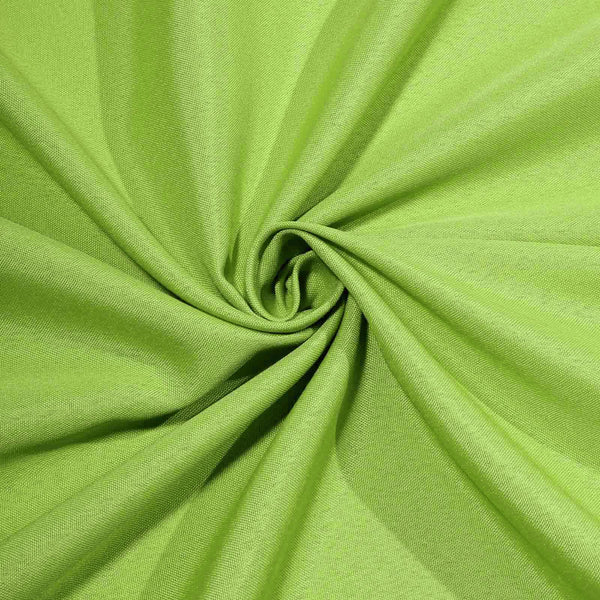 "90""x132"" Apple Green Polyester Rectangular Tablecloth"