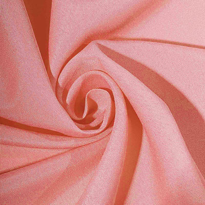 "90""x132"" Coral Polyester Rectangular Tablecloth"