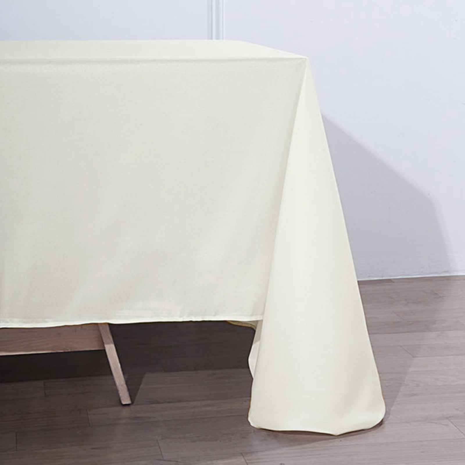 """IVORY Polyester 90x156/"""" Rectangle TABLECLOTHS Wedding Party Home Linens SALE"""