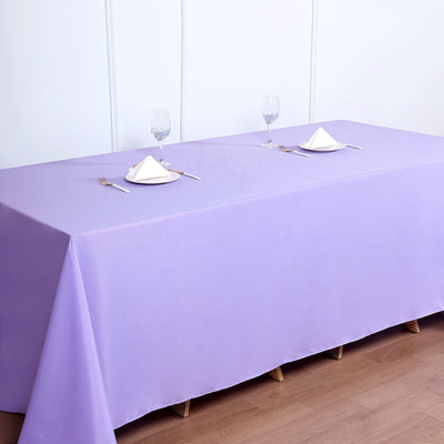 90inch x132inch Lavender Polyester Rectangular Tablecloth