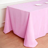 "90x132"" PINK Polyester Rectangular Tablecloth"