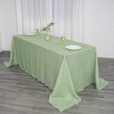 "90""x132"" SAGE Polyester Rectangular Tablecloth - Clearance SALE"