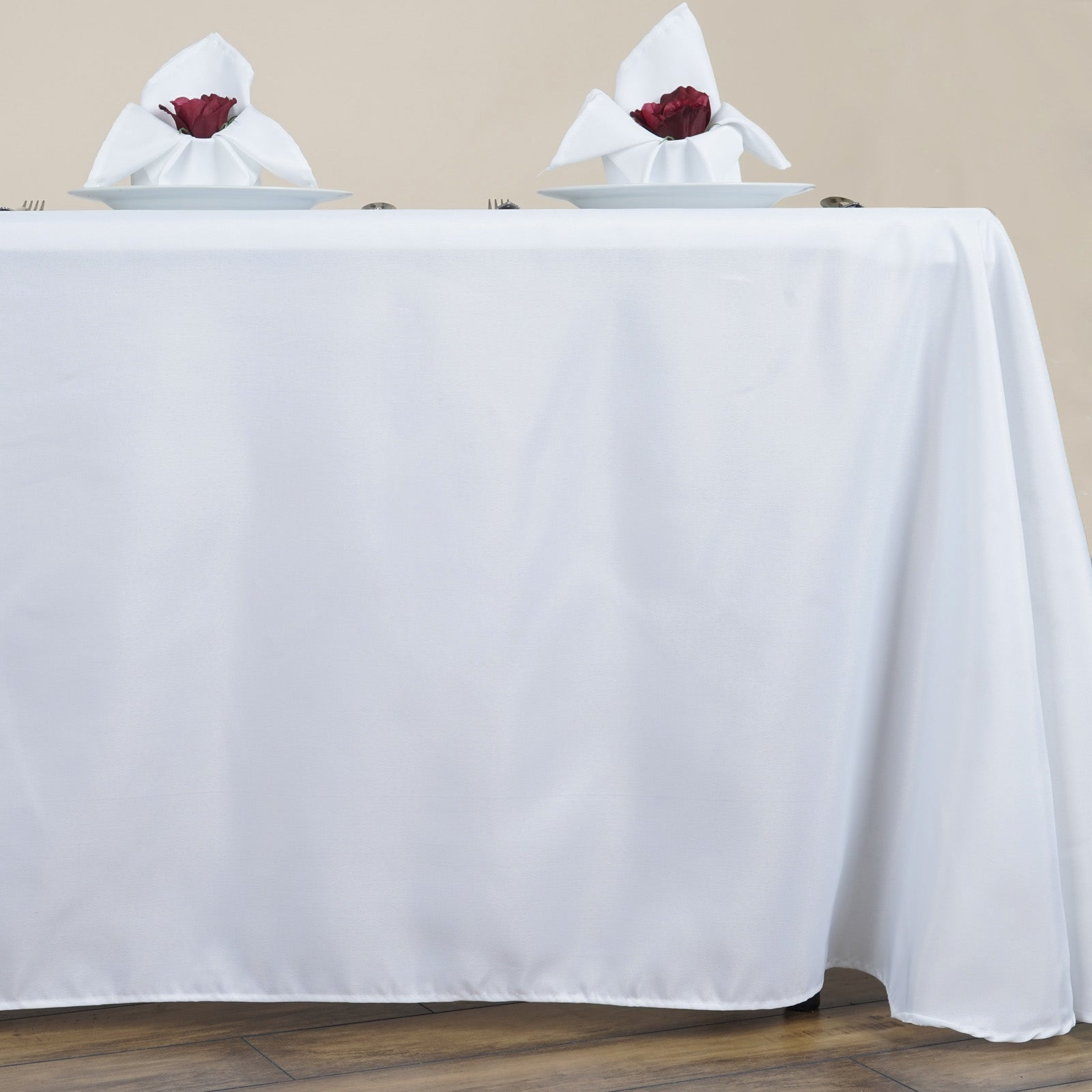 90x156 white polyester round corner linen party tablecloth tablecloths factory. Black Bedroom Furniture Sets. Home Design Ideas