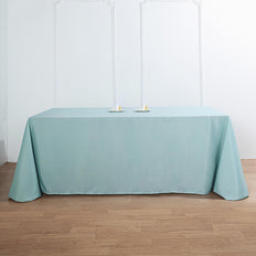 "90""x156"" Dusty Sage Polyester Rectangular Tablecloth"