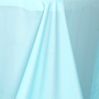 "90x156"" Blue Polyester Rectangular Tablecloth"