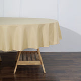 90 inch Champagne Polyester Round Tablecloth