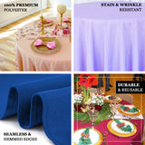 "90"" Navy Blue Polyester Round Tablecloth"