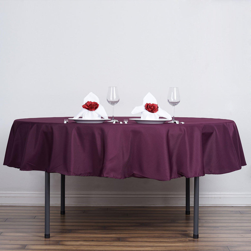 90 Quot Eggplant Wholesale Polyester Round Tablecloth For