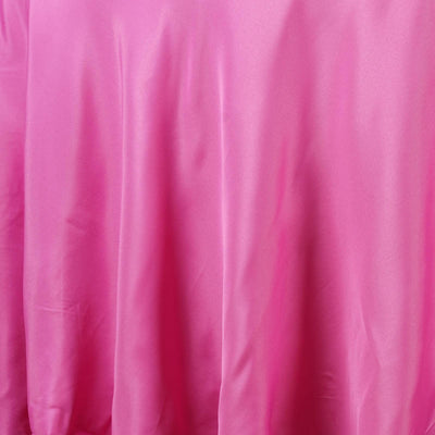 "90"" FUSHIA Wholesale Polyester Round Tablecloth For Wedding Banquet Restaurant"