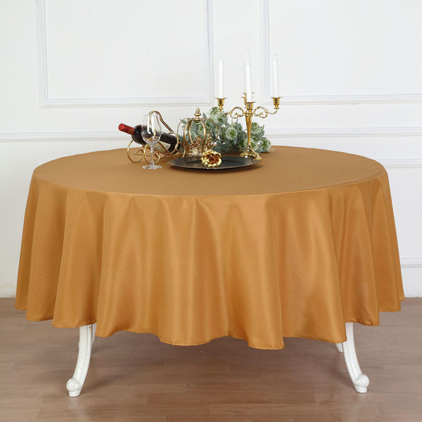 Gold 82 Waterproof Plastic Round Table Cover Tablecloth Touch Of Color Weddings Party Tableware Serveware Home Garden