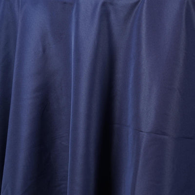 "90"" NAVY BLUE Wholesale Polyester Round Tablecloth For Wedding Banquet Restaurant"
